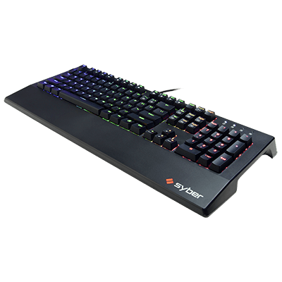 Syber K1 RGB BLACK (LINEAR) Mechanical Gaming Keyboard w/ Kontact Blue Switches and Programmable RGB LED Lighting