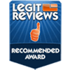 Legit Reviews Recommended Award for Gamer Xtreme VR PC