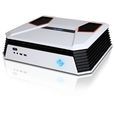 Syber C Series Mini-ITX Gaming Chassis w/ 7 color RGB LED, USB 3.0 (White Color)