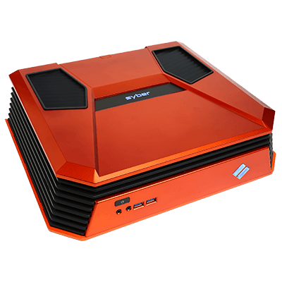 Syber C Series Mini-ITX Gaming Chassis w/ 7 color RGB LED, USB 3.0 (Orange Color)